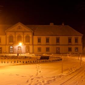 Zámecký park Bílovice v zimě