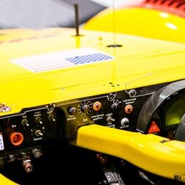 Kokpit prototypu Porsche RS Spyder