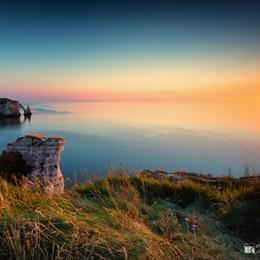 Sunset Over The Cliffs of Étretat