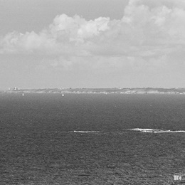 Far far away Pointe Saint-Mathieu from Pointe de Pen-Hir